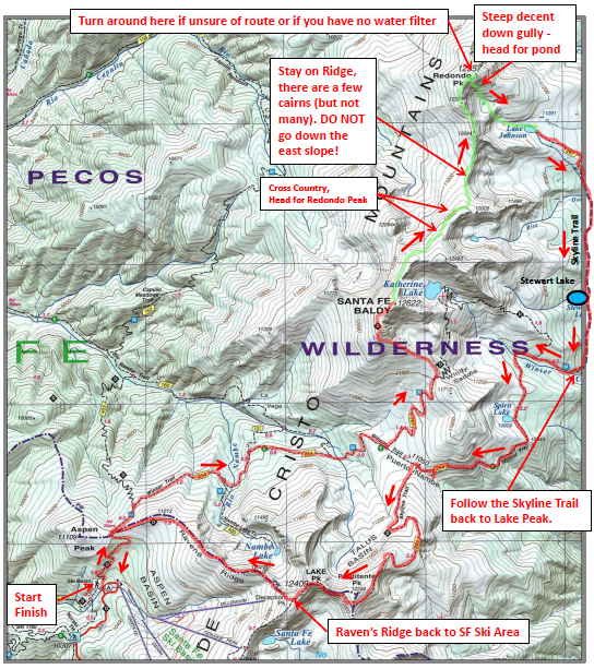 map of the course for beyond baldy a mountain trail series event a group of us chose a slightly less ambitious versions that topped santa fe baldy and